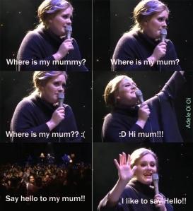 Adele busca a su mamá- oi oi